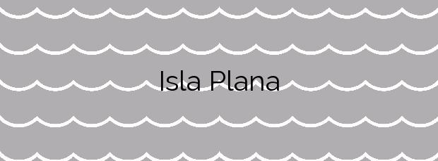 Información de la Playa Isla Plana en Cartagena