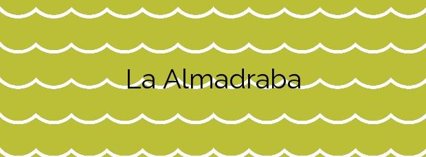 Información de la Playa La Almadraba en Villajoyosa