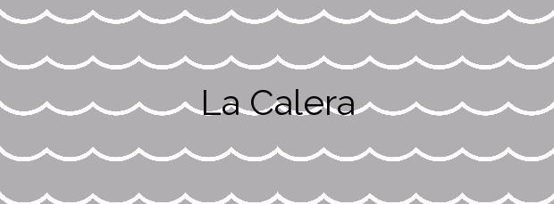 Información de la Playa La Calera en Cartagena