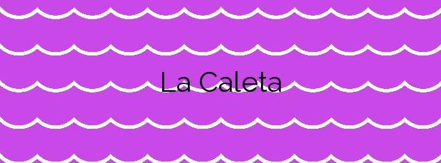 Información de la Playa La Caleta en Málaga