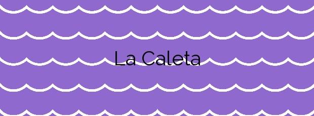 Información de la Playa La Caleta en Vélez-Málaga
