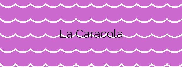 Información de la Playa La Caracola en Adra