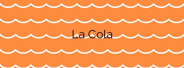 Información de la Playa La Cola en Águilas