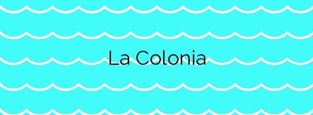 Información de la Playa La Colonia en Águilas