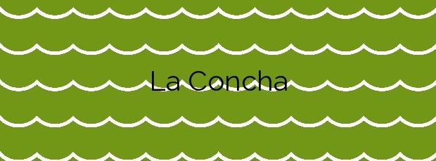 Información de la Playa La Concha en San Sebastián