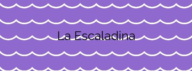 Información de la Playa La Escaladina en Valdés