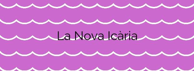Información de la Playa La Nova Icària en Barcelona