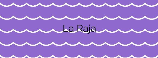 Información de la Playa La Raja en Mazarrón