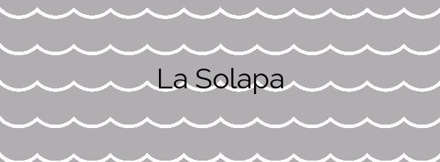 Información de la Playa La Solapa en Pájara