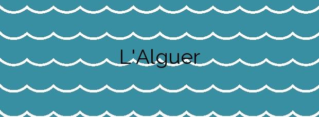 Información de la Playa L'Alguer en L'Ametlla de Mar