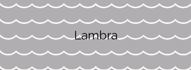 Información de la Playa Lambra en Teguise