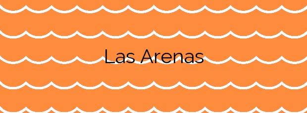 Información de la Playa Las Arenas en Vélez-Málaga