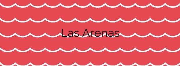 Información de la Playa Las Arenas en Vallehermoso