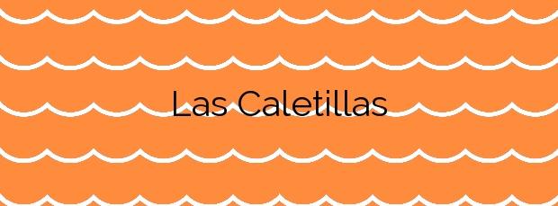 Información de la Playa Las Caletillas en Arico