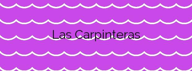 Información de la Playa Las Carpinteras en San Bartolomé de Tirajana