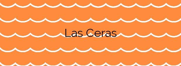 Información de la Playa Las Ceras en Arico