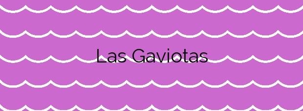 Información de la Playa Las Gaviotas en Santa Cruz de Tenerife