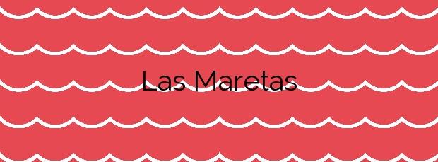Información de la Playa Las Maretas en Arico