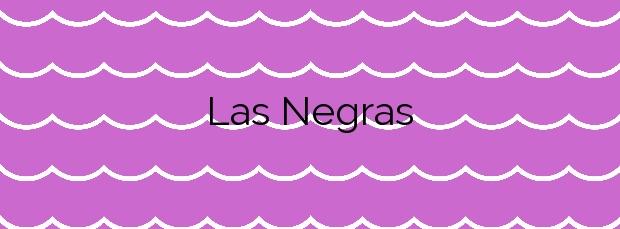 Información de la Playa Las Negras en Níjar