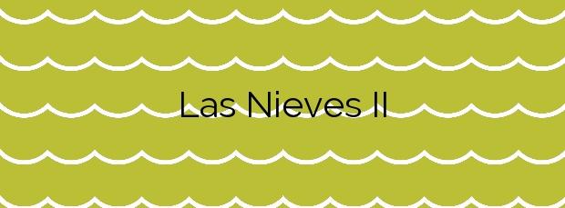 Información de la Playa Las Nieves II en Agaete