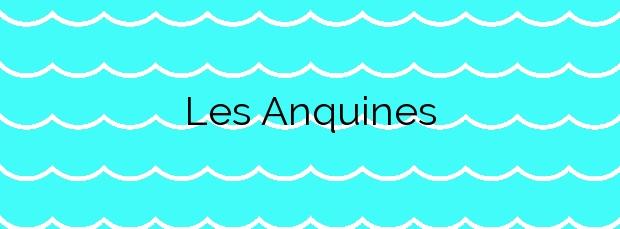 Información de la Playa Les Anquines en Sitges
