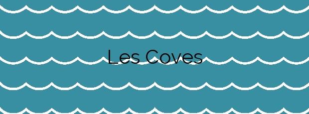 Información de la Playa Les Coves en Sitges
