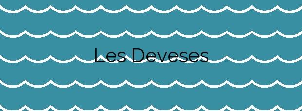 Información de la Playa Les Deveses en Dénia