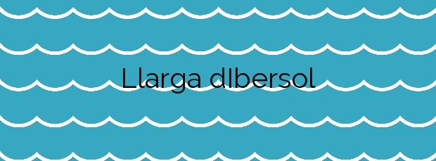 Información de la Playa Llarga d'Ibersol en Vilanova i la Geltrú