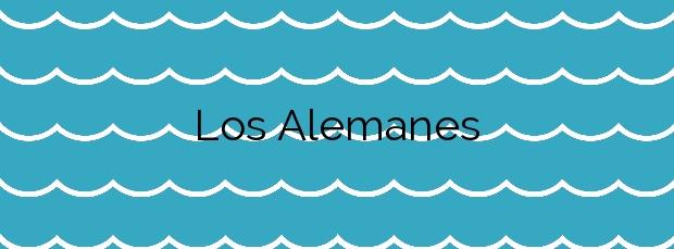 Información de la Playa Los Alemanes en Cartagena