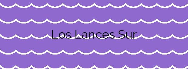 Información de la Playa Los Lances Sur en Tarifa