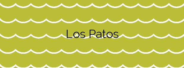 Información de la Playa Los Patos en La Orotava