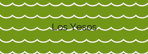 Información de la Playa Los Yesos en Sorvilán