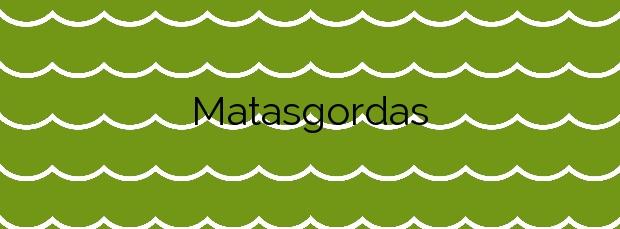 Información de la Playa Matasgordas en San Javier