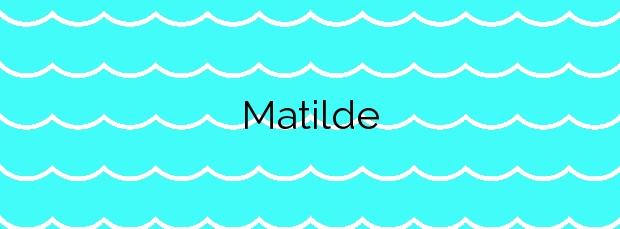 Información de la Playa Matilde en Soutomaior