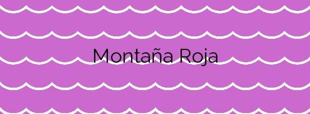 Información de la Playa Montaña Roja en Granadilla de Abona