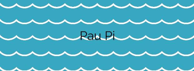 Información de la Playa Pau Pi en Oliva