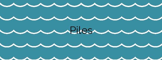 Información de la Playa Piles en Piles