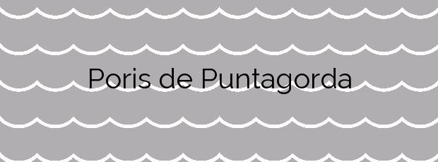 Información de la Playa Poris de Puntagorda en Puntagorda