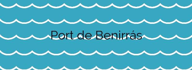 Información de la Playa Port de Benirrás en Sant Joan de Labritja