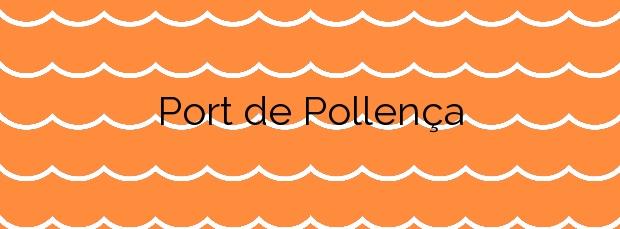 Información de la Playa Port de Pollença en Pollença