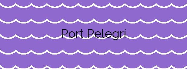 Información de la Playa Port Pelegrí en Palafrugell