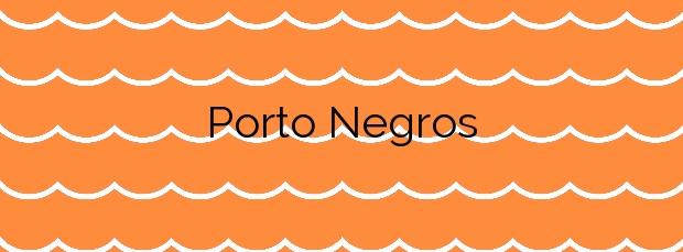 Información de la Playa Porto Negros en Carnota