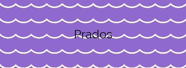 Información de la Playa Prados en Valdoviño