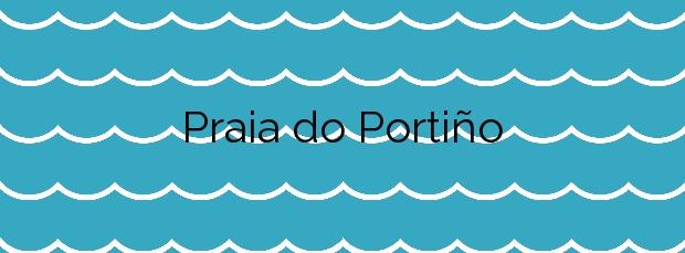 Información de la Playa Praia do Portiño en Valdoviño