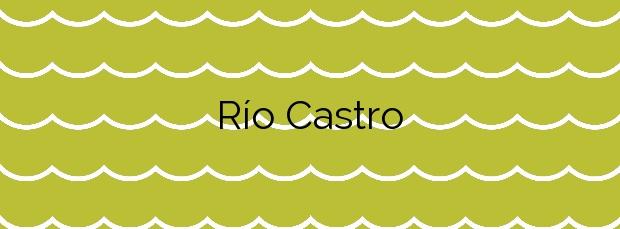 Información de la Playa Río Castro en Fene