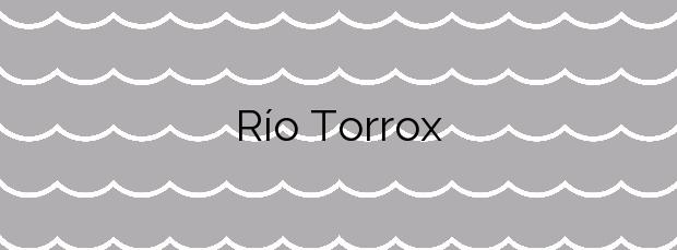 Información de la Playa Río Torrox en Torrox