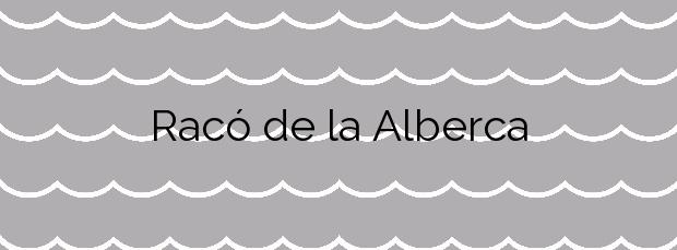 Información de la Playa Racó de la Alberca en Dénia