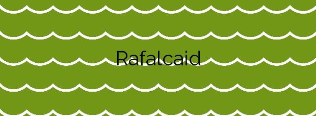 Información de la Playa Rafalcaid en Gandia