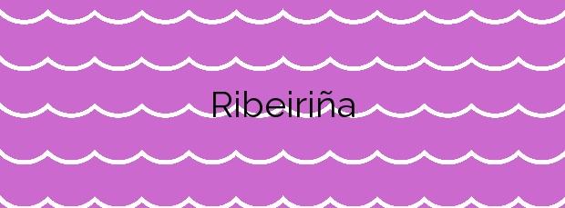 Información de la Playa Ribeiriña en Ribeira