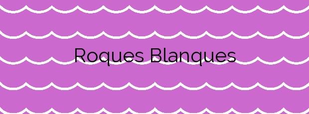 Información de la Playa Roques Blanques en Sant Pol de Mar